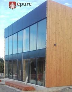 Bâtiment tertiaire en ossature bois douglas EPURE