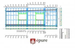 plan de fabrication bâtiment ossature bois toulouse epure construction bois