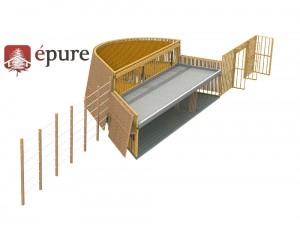 vue structure porteuse ossature bois epure construction bois