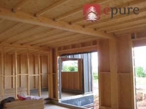 maison ossature bois à Luc épure construction bois