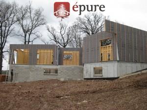 maison ossature bois à Rignac épure construction bois