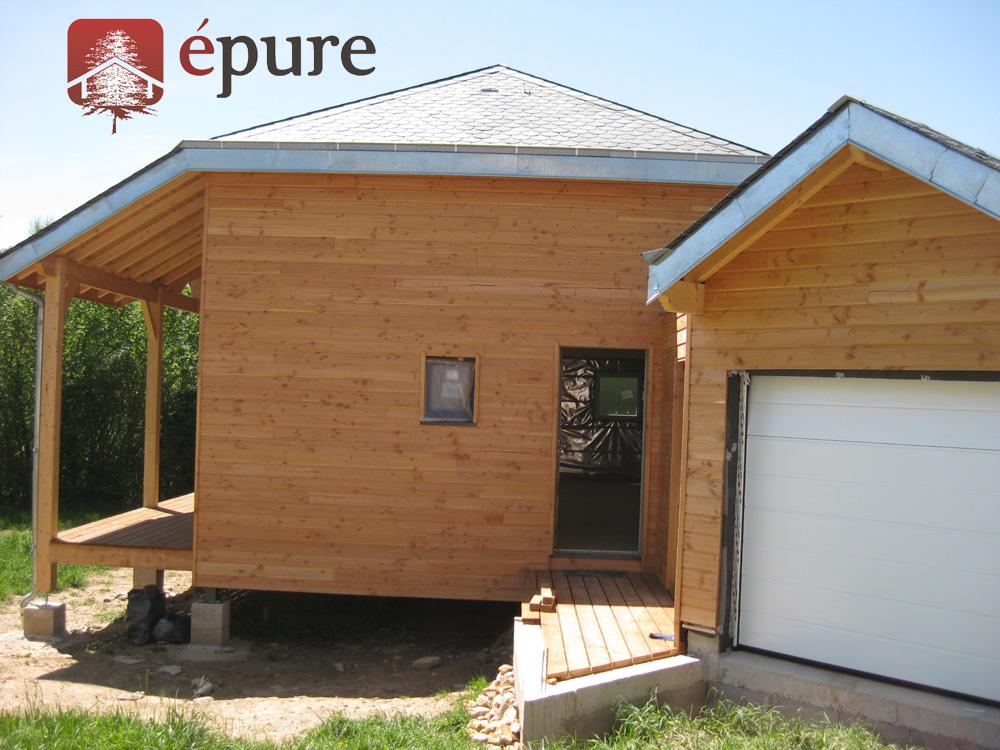Maison ossature bois salmiech epure bois - Principe maison ossature bois ...
