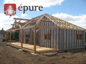 maison ossature bois douglas à Salles Curan épure construction bois