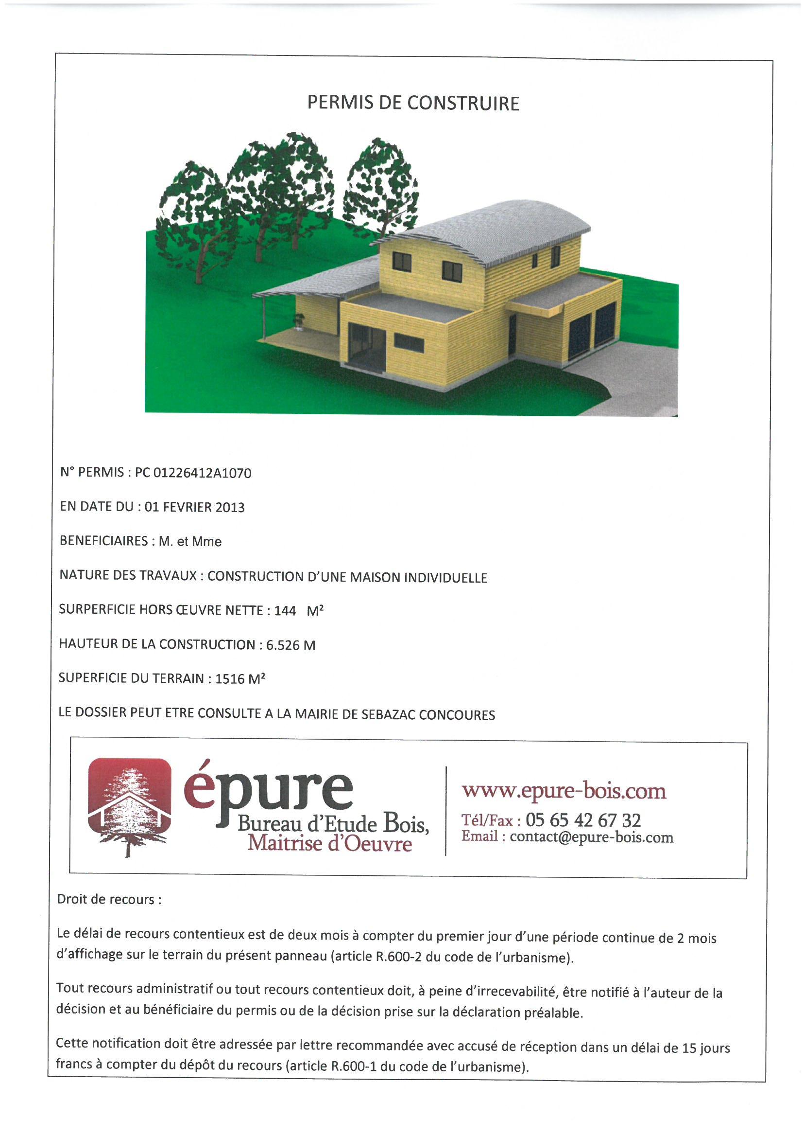 maison ossature bois a concoures 2 epure bois. Black Bedroom Furniture Sets. Home Design Ideas