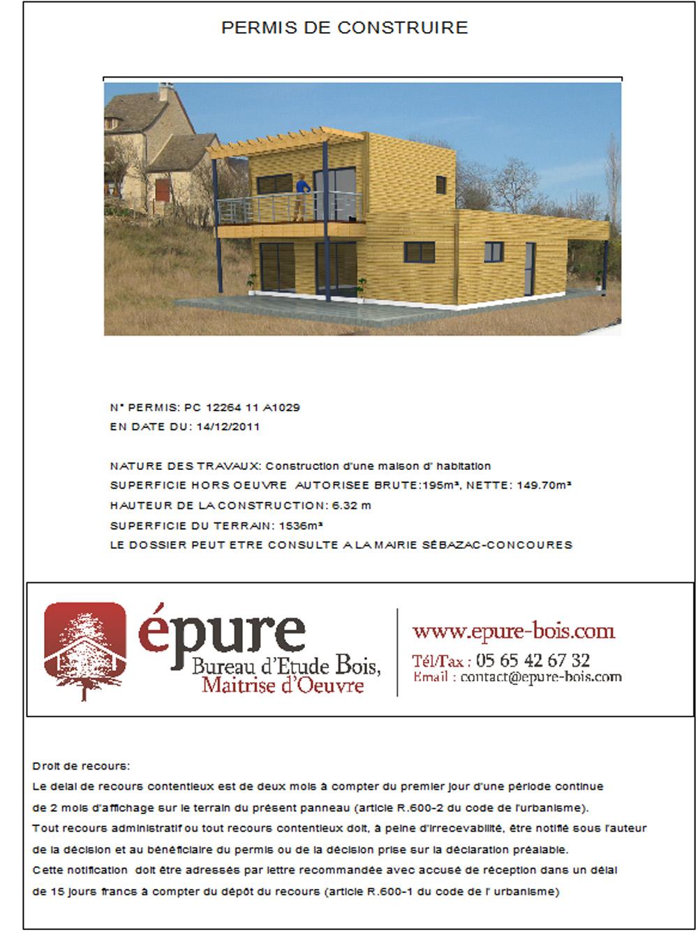 maison ossature bois concoures epure bois. Black Bedroom Furniture Sets. Home Design Ideas