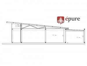 plan de coupe maison ossature bois Balsac epure construction bois