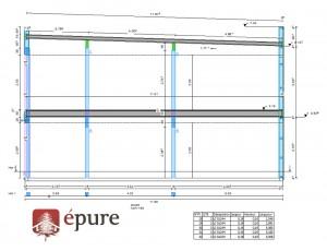 plan de pose structure bâtiment ossature bois toulouse epure construction bois