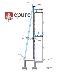 plan de pose structure epure construction bois