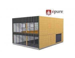 vue 3D structure bâtiment ossature bois toulouse epure construction bois