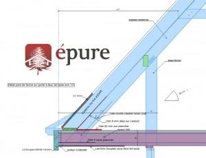 détail plan de fabrication et de pose extension en ossature bois epure construction bois