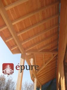 maison ossature bois à Salmiech épure construction bois