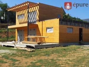 maison ossature bois à concoures épure construction bois