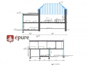 plan de coupe extension ossature bois agen d'aveyron epure construction bois