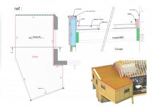 plan de pose extension ossature bois agen d'aveyron epure construction bois