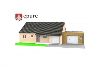 vue 3D extension ossature bois epure construction bois