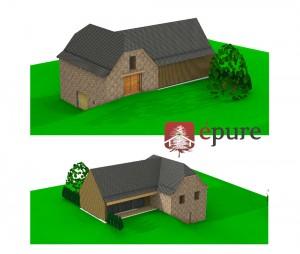 vue 3D extension ossature bois st cyprien epure construction bois