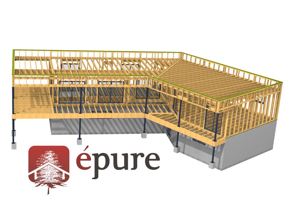 Structure maison ossature bois ventana blog for Structure maison ossature bois